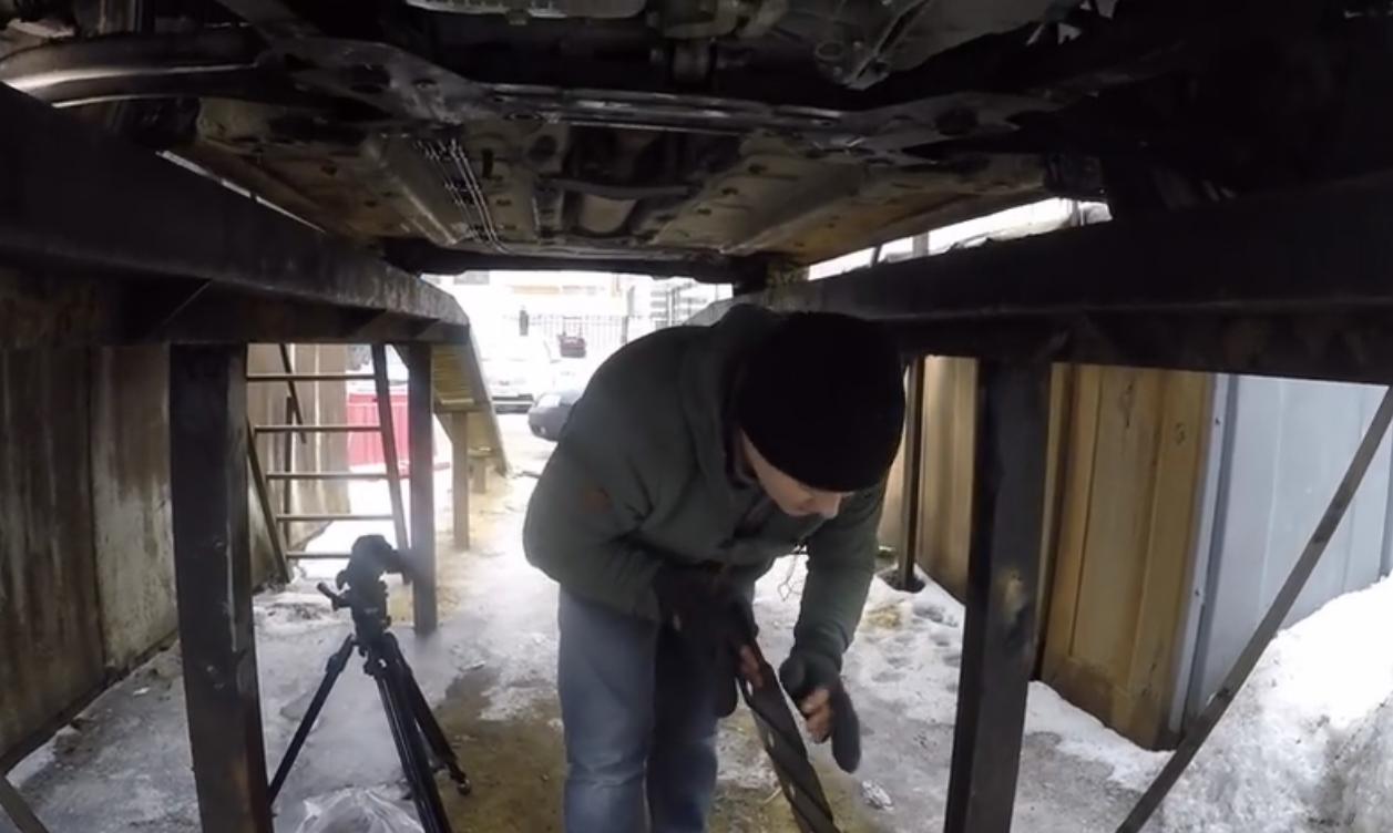 Установка защиты картера на Lada Vesta