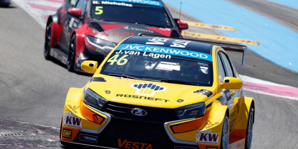 Французский этап оказался сложным для LADA Sport Rosneft