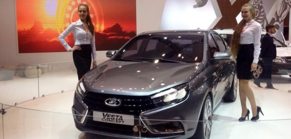 LADA Vesta бесспорный лидер Московского международного автосалона в 2014 году