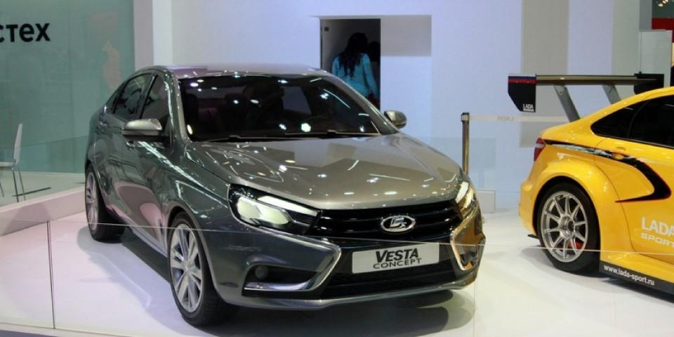 Красноярск любуется новым седаном LADA Vesta