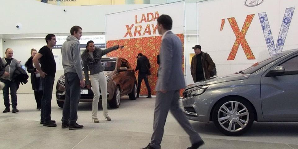 LADA Vesta и LADA Xray Concept 2 встречают пассажиров в новом терминале аэропорта Самары