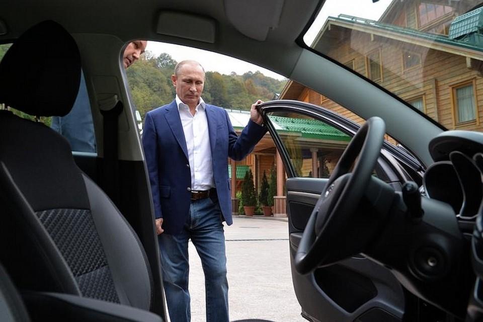 Президент РФ заводит LADA Vesta с первой пробы